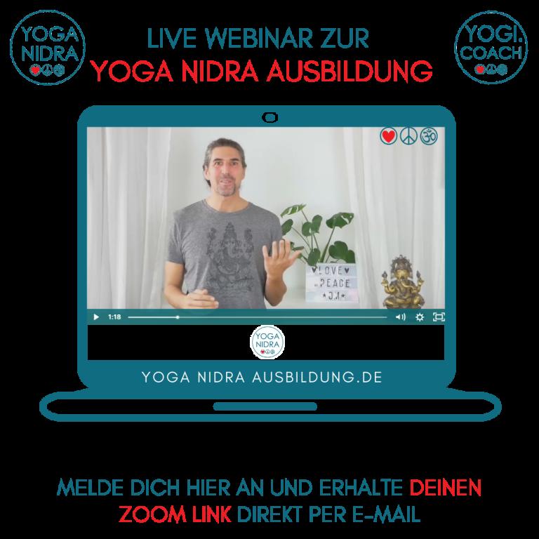Yoga Nidra live Webinar mit dem YogiCoach Marc Fenner